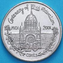 Австралия 20 центов 2001 год. Виктория