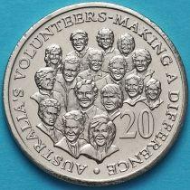 Австралия 20 центов 2003 год. Австралийские волонтеры.
