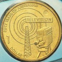 Австралия 1 доллар 2006 год. Телевидение. Брисбен. В.