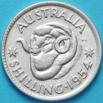 Австралия 1 шиллинг 1954 год. Елизавета II Серебро.