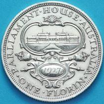 Австралия 1 флорин 1927 год. Серебро. Открытие здания Парламента в Канберре.