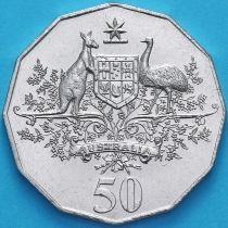 Австралия 50 центов 2001 год. 100 лет Федерации. Австралия.