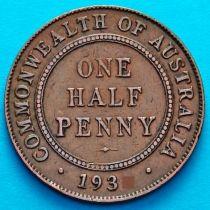 Австралия 1/2 пенни 1933 год.