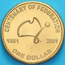 Австралия 1 доллар 2001 год. 100 лет Федерации.
