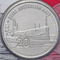 Австралия 20 центов 2015 год. Австралийский Королевский флот.