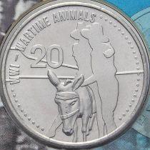 Австралия 20 центов 2015 год. Животные на войне.