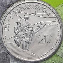Австралия 20 центов 2015 год. Военные корреспонденты.