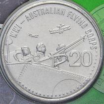 Австралия 20 центов 2015 год. Австралийский лётный корпус.