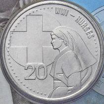 Австралия 20 центов 2015 год. Медсестры.