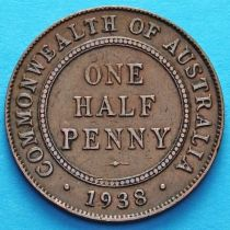 Австралия 1/2 пенни 1938 год.