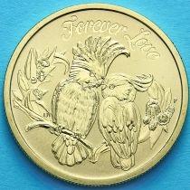Тувалу 1 доллар 2014 год. Попугаи.