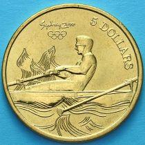 Австралия 5 долларов 2000 год. Гребля.