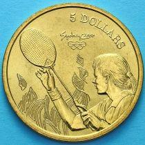 Австралия 5 долларов 2000 год. Бадминтон.