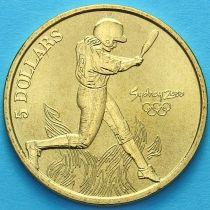Австралия 5 долларов 2000 год. Софтбол.