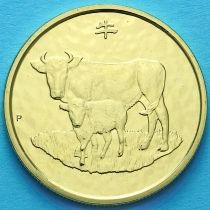 Австралия 1 доллар 2009 год. Год быка.