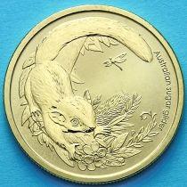 Австралия 1 доллар 2011 год. Сахарная сумчатая летяга.