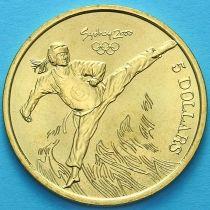 Австралия 5 долларов 2000 год. Тхэквондо.