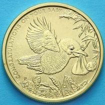 Австралия 1 доллар 2014 год. Птица Кукабурра.