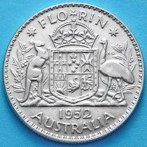 Австралия 1 флорин 1952 год. Серебро.