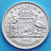 Австралия 1 флорин 1961 год. Серебро