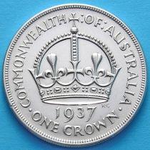 Австралия 1 крона 1937 год. Серебро. №1