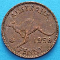 Австралия 1 пенни 1955-1964 год.