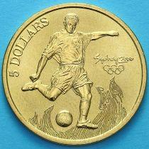 Австралия 5 долларов 2000 год. Футбол.