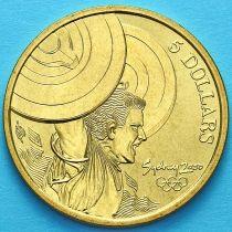Австралия 5 долларов 2000 год. Тяжёлая атлетика.