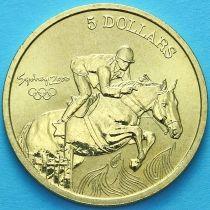 Австралия 5 долларов 2000 год. Конный спорт.