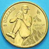 Австралия 5 долларов 2000 год. Бейсбол.