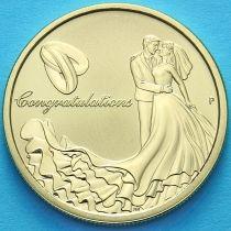 Австралия 1 доллар 2015 год. Свадьба.