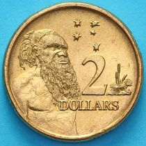Австралия 2 доллара 1990 год. Абориген.