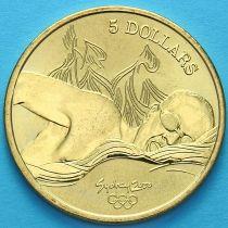 Австралия 5 долларов 2000 год. Плавание.
