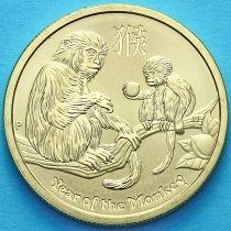 Австралия 1 доллар 2016 год. Год обезьяны.