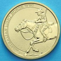 Австралия 1 доллар 2017 год. Австралийская лёгкая кавалерия.