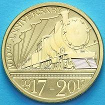 Австралия 1 доллар 2017 год. Паровоз.