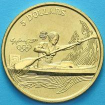 Австралия 5 долларов 2000 год. Гребля на байдарках и каноэ.