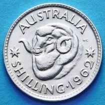 Австралия 1 шиллинг 1962 год. Елизавета II Серебро.