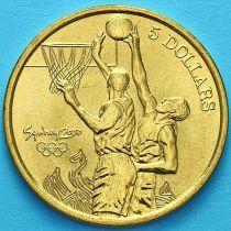 Австралия 5 долларов 2000 год. Баскетбол.