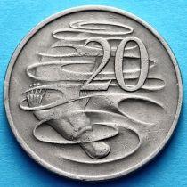 Австралия 20 центов 1966-1981 год.