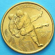 Австралия 5 долларов 2000 год. Дзюдо.