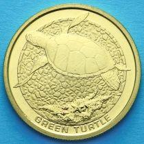 Австралия 1 доллар 2008 год. Зеленая черепаха.
