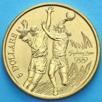 Австралия 5 долларов 2000 год. Гандбол.