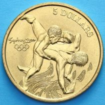 Австралия 5 долларов 2000 год. Греко-римская борьба.