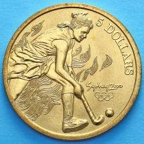 Австралия 5 долларов 2000 год. Женский хоккей на траве.