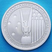Австралия 50 центов 2013 год. Австралийско–Американский Мемориал. Серебро.