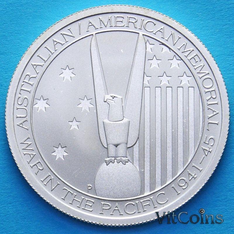 Монета Австралии 50 центов 2013 год. Австралийско–Американский Мемориал. Серебро