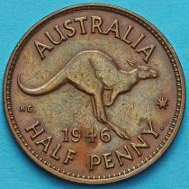 Австралия 1/2 пенни 1939-1948 год.