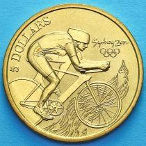 Австралия 5 долларов 2000 год. Велоспорт.