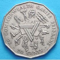 Австралия 50 центов 1982 год. XII Игры Содружества